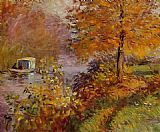 Claude Monet The Studio Boat 2 painting