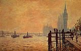 Claude Monet The Thames below Westminster painting