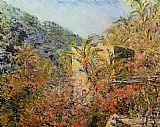 Claude Monet The Valley of Sasso Sunshine painting