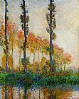 Claude Monet Three Trees in Autumn painting