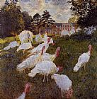 Claude Monet Turkeys painting