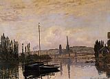 Claude Monet View of Rouen painting
