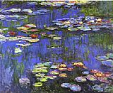 Floral paintings - Water Lilies 1914 by Claude Monet