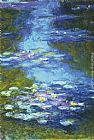 Floral paintings - Water Lilies I by Claude Monet