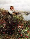 Daniel Ridgway Knight A Pensive Monent painting
