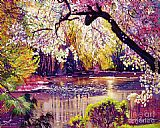 David Lloyd Glover Central Park Spring Pond painting