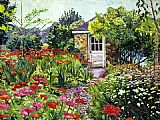 David Lloyd Glover Giverny Gardeners House painting