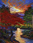 David Lloyd Glover Red Maple painting