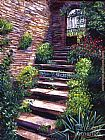 David Lloyd Glover Stone Steps Tuscany painting