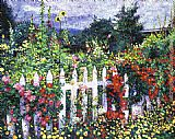 David Lloyd Glover The Painter's Palette Garden painting