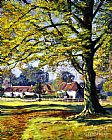 David Lloyd Glover english village painting