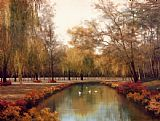 Diane Romanello Weeping Willows painting
