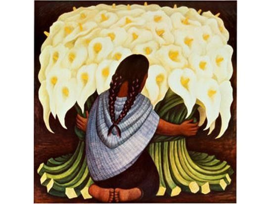 Diego Rivera The Flower Seller