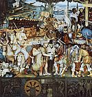 Diego Rivera Disembarkation of the Spanish at Vera Cruz (with Portrait of Cortez as a Hunchback) painting