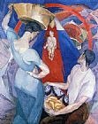 Diego Rivera The Adoration of the Virgin painting