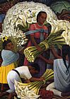 Diego Rivera The Flower Vendor, 1949 painting