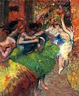 Edgar Degas Dancers in the Wings II painting
