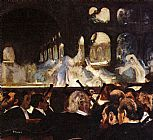 Horse Racing paintings - The ballet scene by Edgar Degas