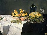 Edouard Manet Still Life with Melon and Peaches 2 painting