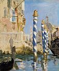 Venice paintings - The Grand Canal Venice by Edouard Manet