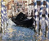 Venice paintings - The Grand Canal, Venice I by Edouard Manet