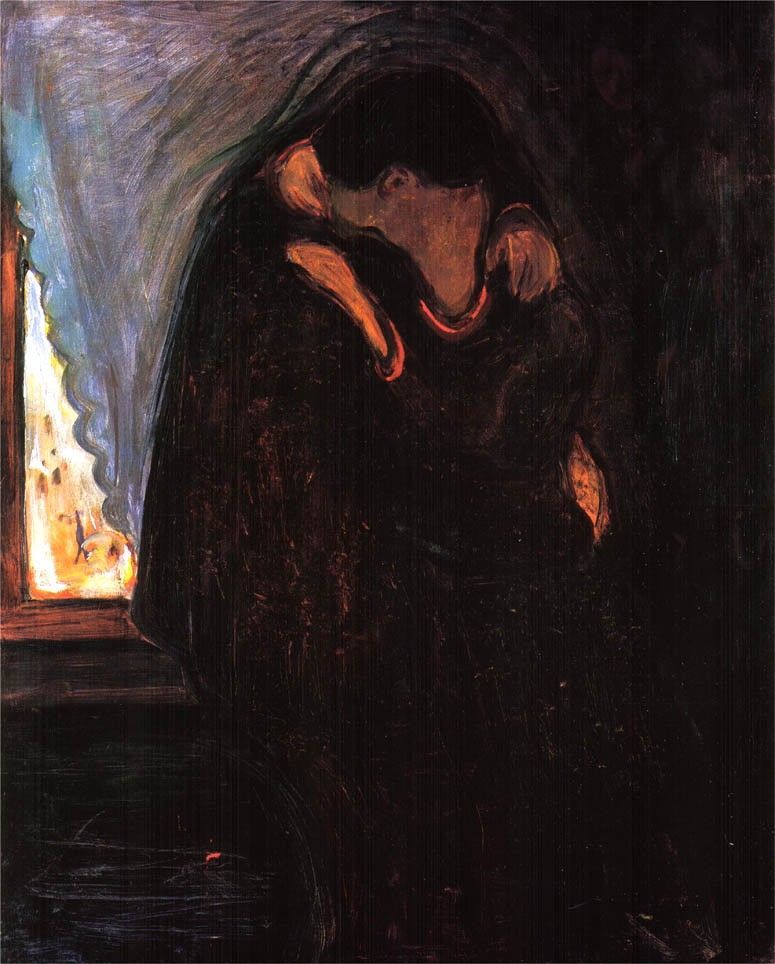 Edvard Munch The Kiss II