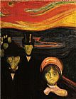 Edvard Munch Anxiety painting