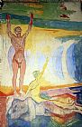 Edvard Munch Awakening Men painting