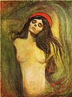 Edvard Munch Madonna 1 painting