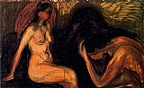 Edvard Munch Man and Woman painting