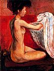 Edvard Munch Paris Nude painting