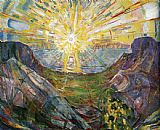 Edvard Munch The Sun 1 painting
