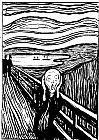 Edvard Munch the Scream white and black painting
