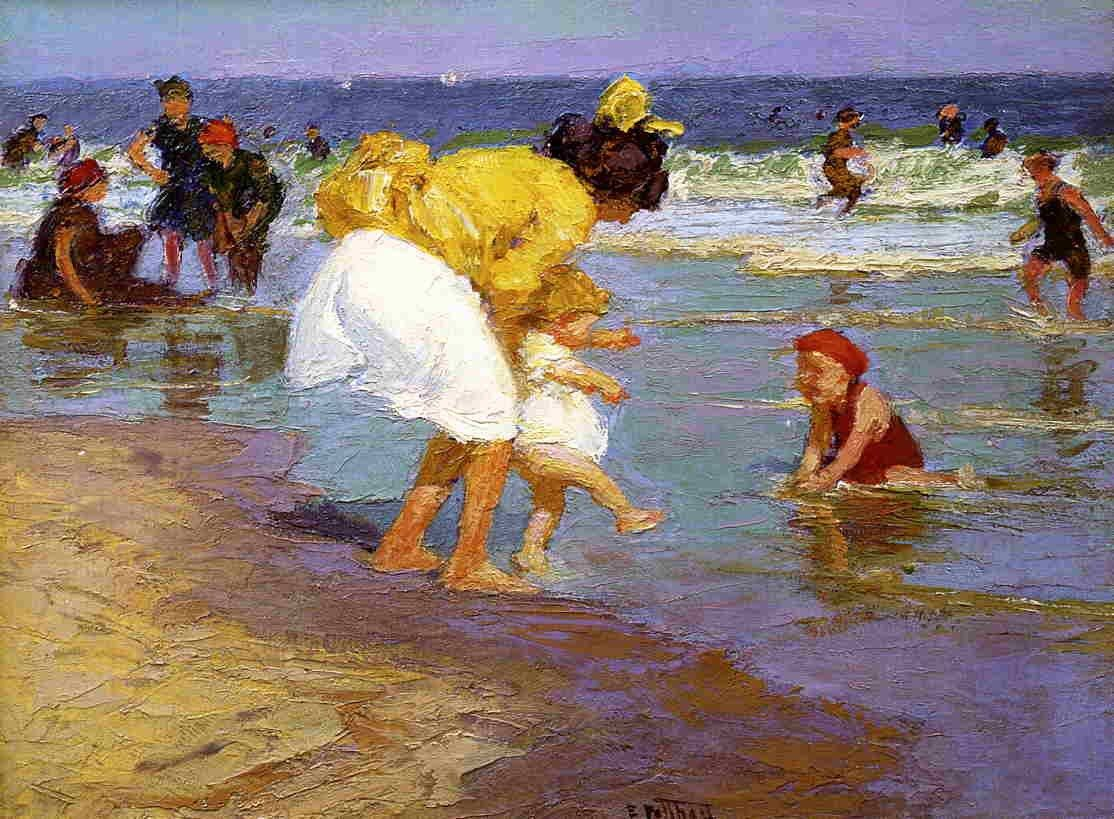 Edward Henry Potthast At the Seashore