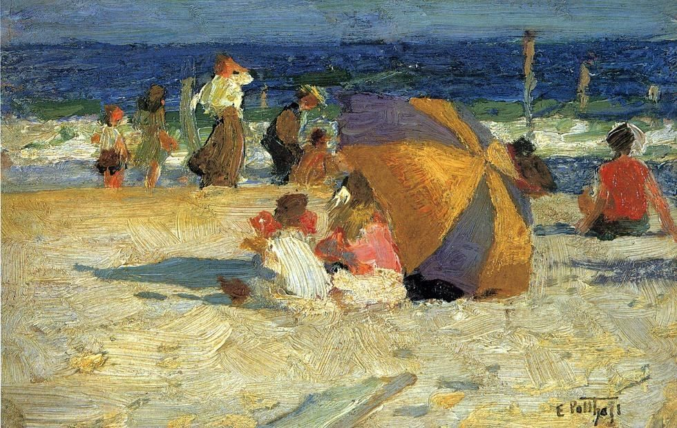 Edward Henry Potthast Beach Umbrella