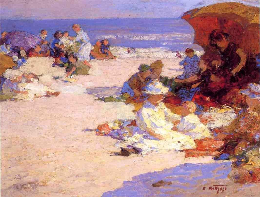 Edward Henry Potthast Picknickers on the Beach