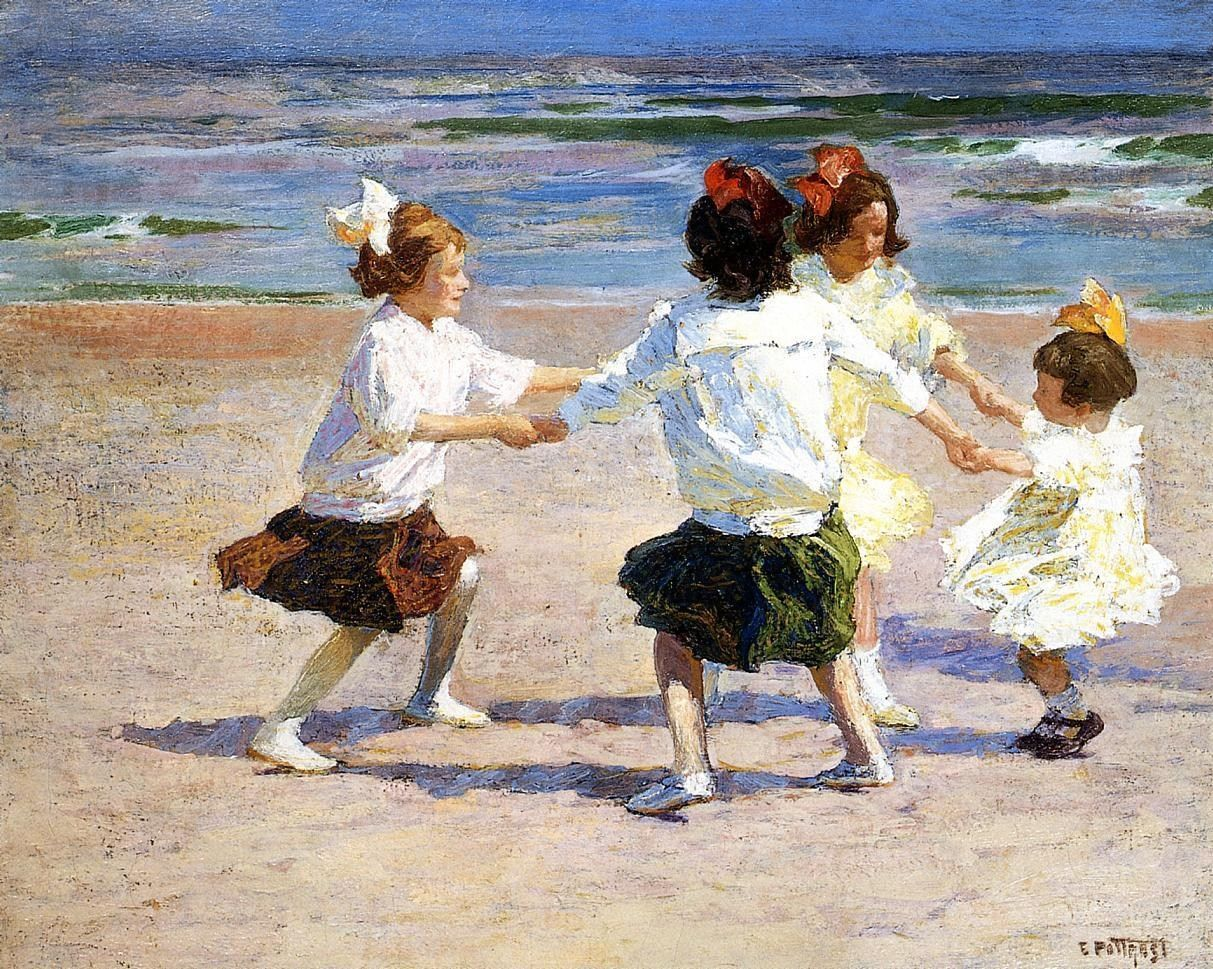 Edward Henry Potthast Ring around the Rosy