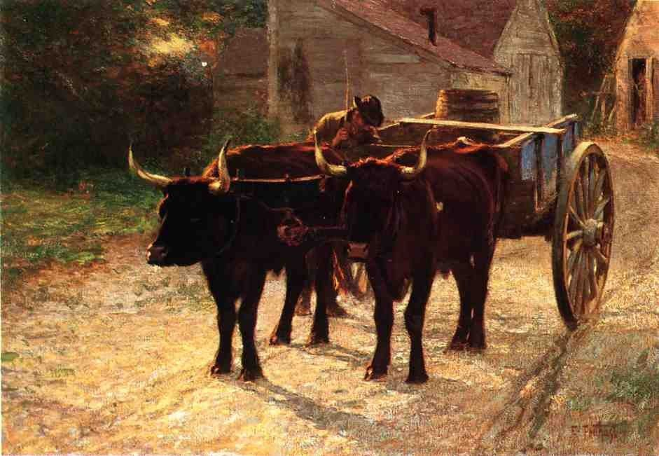 Edward Henry Potthast The Ox Cart