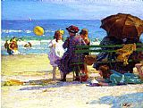 Edward Henry Potthast A Family Outing painting