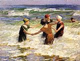 Edward Henry Potthast A Happy Group painting