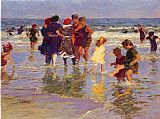 Edward Henry Potthast A July Day painting