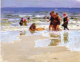 Edward Henry Potthast At the Seashore II painting