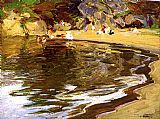 Edward Henry Potthast Bathers in a Cove painting