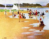 Edward Henry Potthast Bathers painting