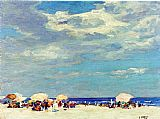 Edward Henry Potthast Beach Scene 2 painting