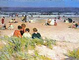 Edward Henry Potthast By the Shore painting