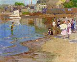 Edward Henry Potthast Children Playing at the Beach painting