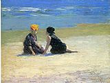 Edward Henry Potthast Confidences painting