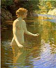 Edward Henry Potthast Enchanted Pool painting