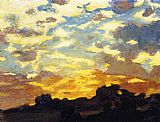 Edward Henry Potthast Golden Sunset painting
